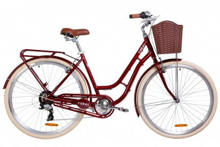 "Велосипед 28"" Dorozhnik Coral 2019 рубиновый"