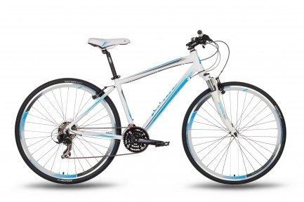 Велосипед PRIDE CROSS 1.0 LADY 2016 бело-синий матовый