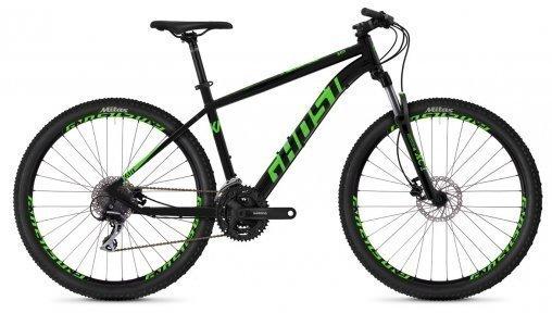 "Велосипед 27,5"" Ghost Kato 2.7 night black / riot green"