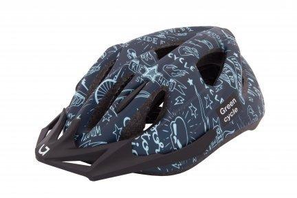 Шлем детский Green Cycle Fast Five размер 50-56см темно-синий