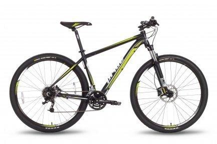 Велосипед PRIDE XC-29 HD 2016 черно-зеленый матовый