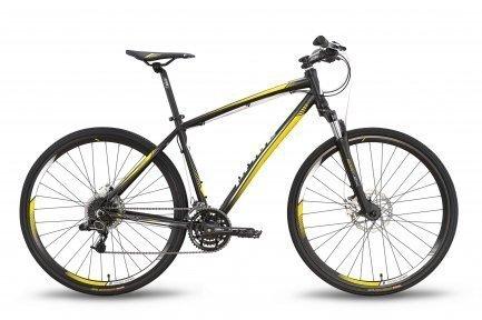 Велосипед PRIDE CROSS 3.0 2016 черно-желтый матовый