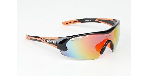 Очки LYNX Detroit shiny metallic black/orange