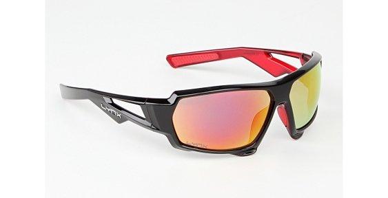 Очки LYNX Huston shiny black inside crystal red