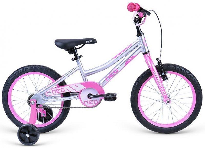 """Велосипед 16"""" Apollo Neo 16 girls розовый/raw"""
