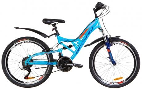 """Велосипед 24"""" Formula ATLAS 2019 синий с оранжевым, с крылом"""