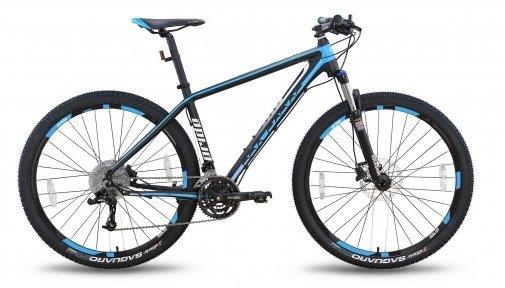 Велосипед PRIDE XC-29 PRO 1.0 2016 черно-синий матовый