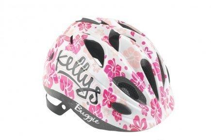 Шлем детский Buggie белый цветок, размер XS/S