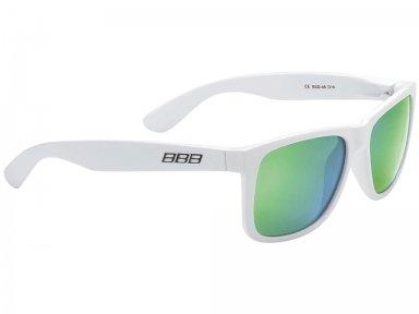 "Очки BSG-46 ""Street"" PZ PC MLC зелен. поляриз. линзы, белый мат."