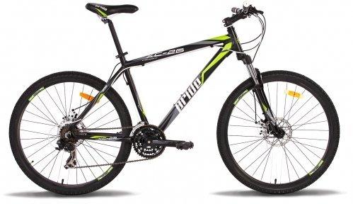 Велосипед PRIDE XC-26 Disk 2014 черно-зеленый матовый