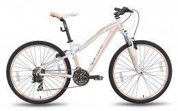Велосипед PRIDE BIANCA V-br 2015 бело-перламутровый матовый