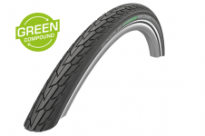 Покрышка 26x1.75 (47-559) Schwalbe ROAD CRUISER K-Guard Active B/B+RT HS484 GREEN, 50EPI