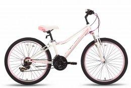 Велосипед PRIDE LANNY 21SP 2016 бело-розовый матовый