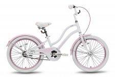 Велосипед PRIDE ANGEL 2016 бело-розовый глянцевый