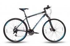 Велосипед PRIDE CROSS 2.0 2016 черно-синий матовый