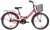 """Велосипед 24"""" Formula SMART 2019 красный с багажником, крылом и корзиной"""